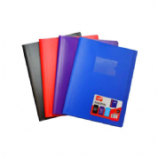 SUPREME A4 40 POCKET SOFT COVER DISPLAY BOOK 4-ASST COLOURS